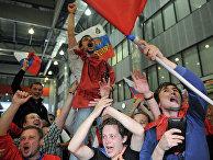 Встреча сборной России по хоккею после победы на чемпионате мира