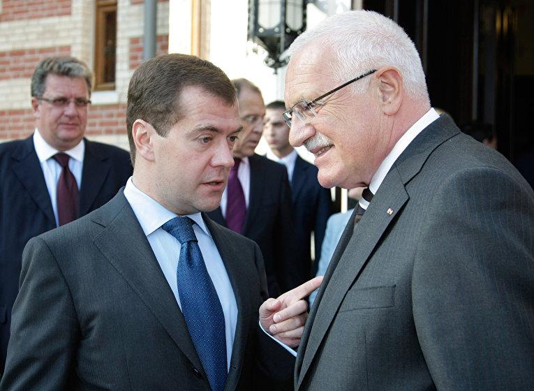 Рабочий визит президента Чешской Республики В. Клауса в Россию
