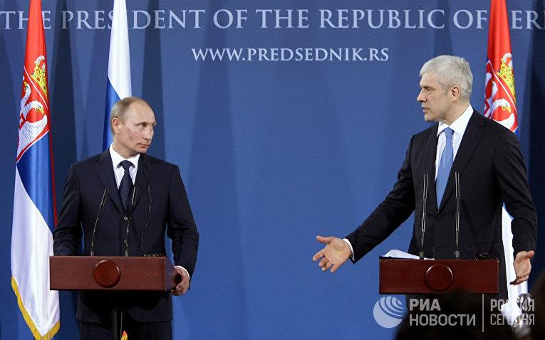 Рабочий визит Владимира Путина в Сербию
