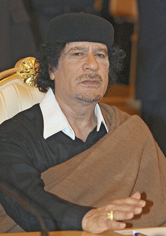 Лидер Ливии полковник Муаммар Каддафи