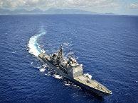 Ракетный крейсер USS Chosin в Тихом океане