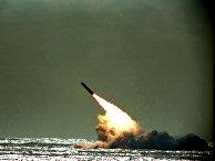 Запуск ракеты Trident II D-5 с подводной лодки USS Tennessee