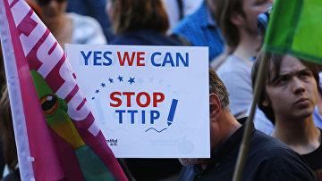 Акция протеста в Мюнхене против проведения саммита G7 и против Трансатлантического торгового и инвестиционного партнерства (ТТИП)