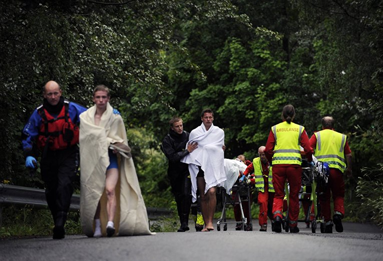 Пострадавшие в результате нападения на молодежный лагерь на острове Утойа в Норвегии