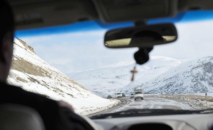 Горная дорога в Нагорном Карабахе