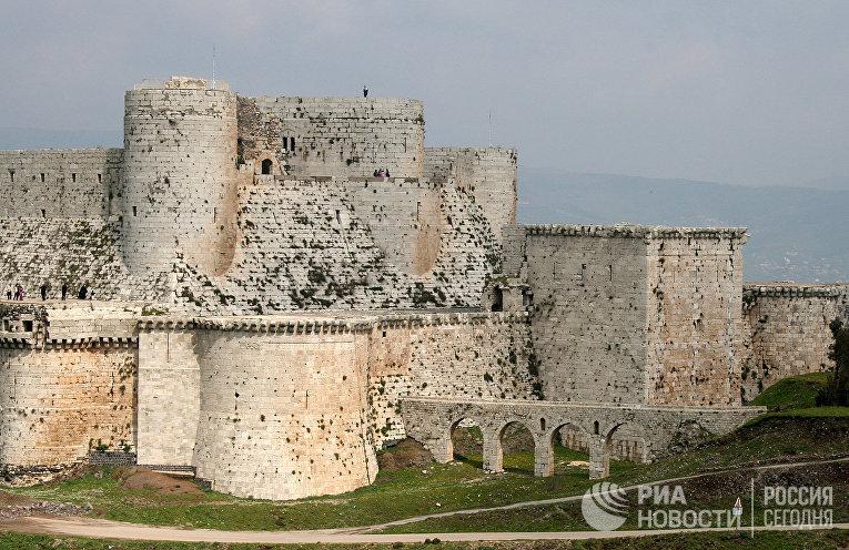 Крепость Крак де-Шевалье в Сирии