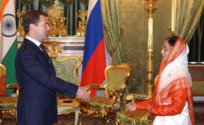 Д.Медведев и П.Патил