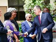 Министр иностранных дел России Сергей Лавров во время африканского турне