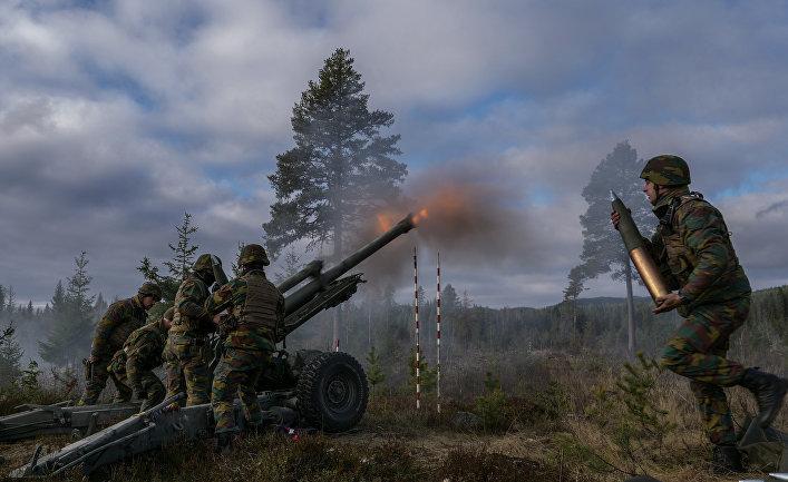 """Военнослужащие Вооруженных сил Бельгии во время совместных учений войск НАТО Trident Juncture 2018 (""""Единый трезубец"""") в Норвегии"""
