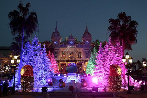 Рождественская елка в Монако