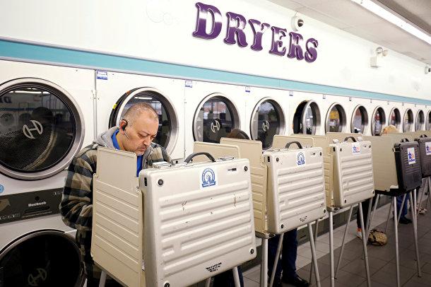 Голосование, организованное в прачечной в Чикаго, штат Иллинойс