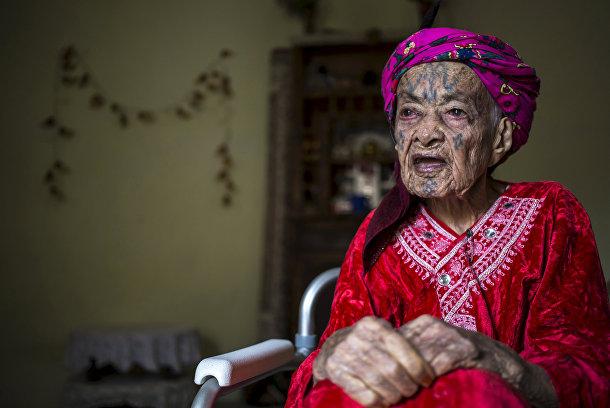 Фахра Тарнуни, 106-летняя берберка из Алжира