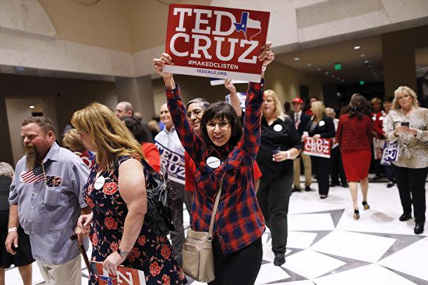 Сторонники Теда Круза в Хьюстоне, штат Техас