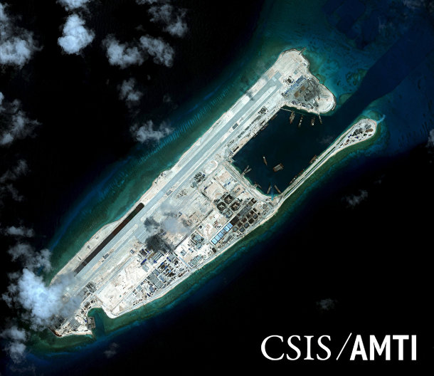 Риф Огненный крест в Южно-Китайском море