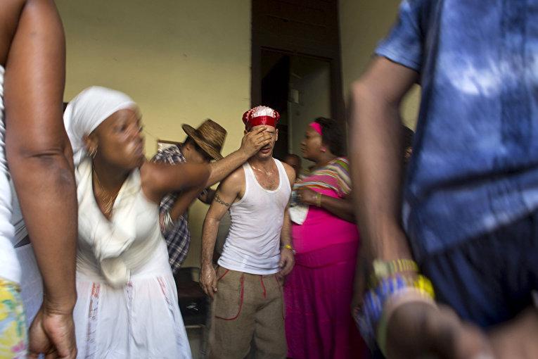 Церемония сантерии в Гаване