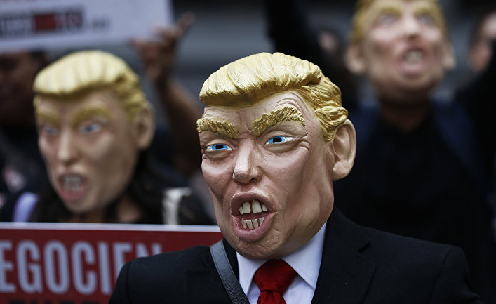 Акция протеста против президента США Дональда Трампа в Мехико, Мексика