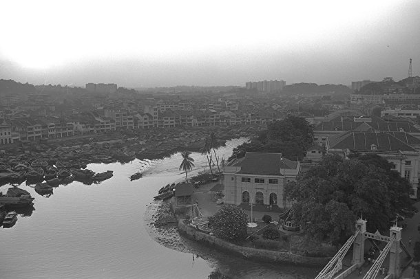 Набережная реки Сингапур в 1965 году