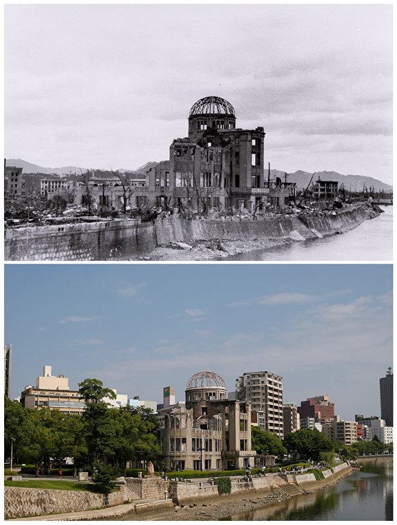Атомный купол (Выставочный центр Торгово-промышленной палаты Хиросимы) в Хиросиме