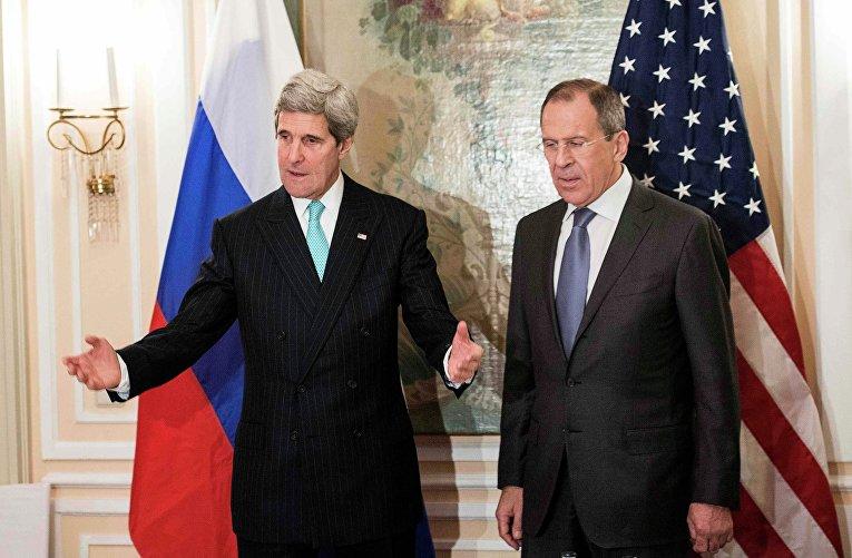 Джон Керри и Сергей Лавров в Мюнхене. Фото с места события