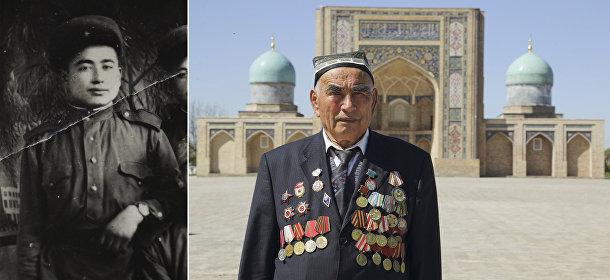 Ветеран Великой отечественной войны Узокбой Ахраев из Узбекистана
