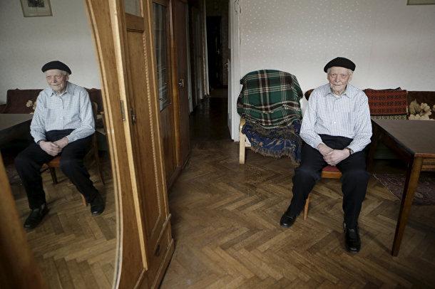 Ветеран Великой отечественной войны из Латвии Фрицис Цеплис