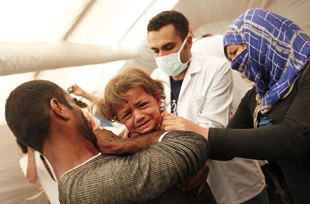 Больница для беженцев в городе Сурук