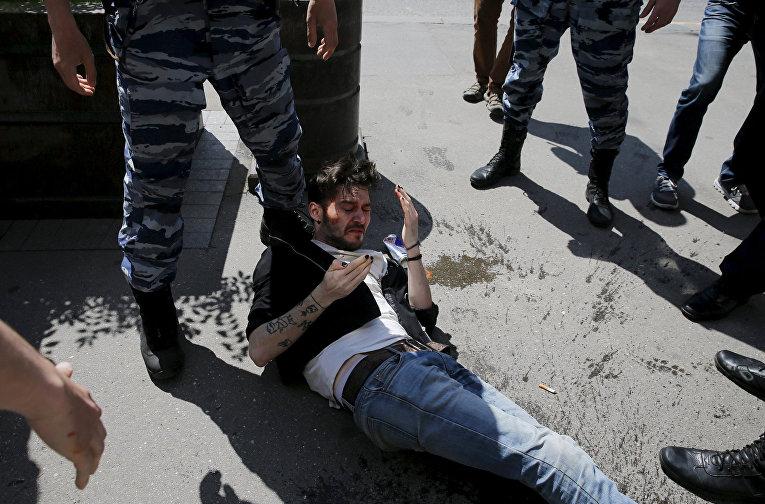 ЛГБТ-активист, пострадавший во время акции в Москве