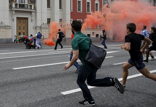 Драка, которой закончилась попытка провести в Москве гей-парад