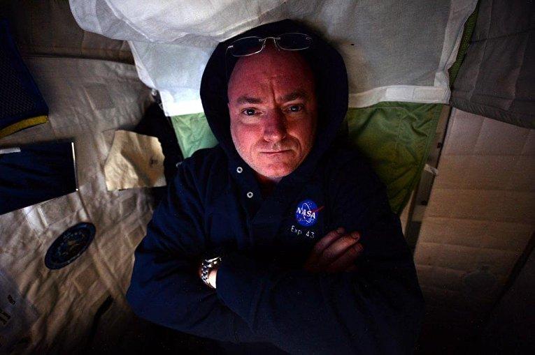 Астронавт Скотт Келли на борту МКС