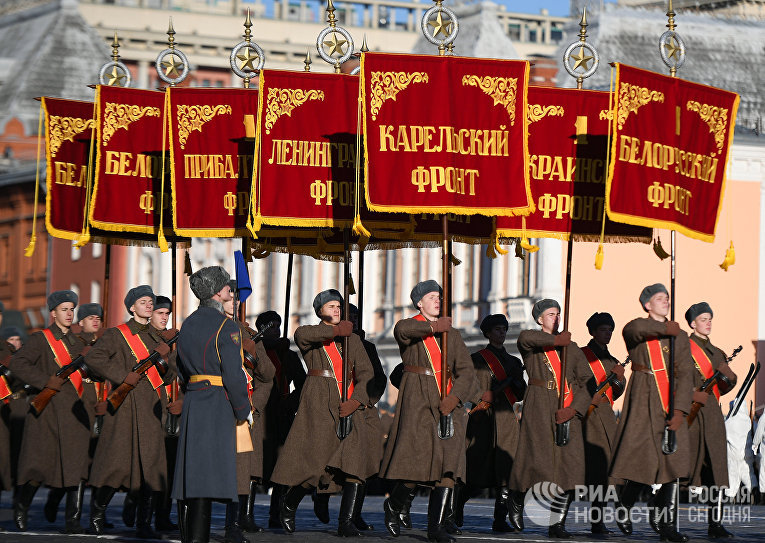 Репетиция  марша, посвященного 77-й годовщине парада 1941 года