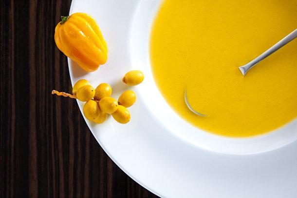 Суп с шафраном