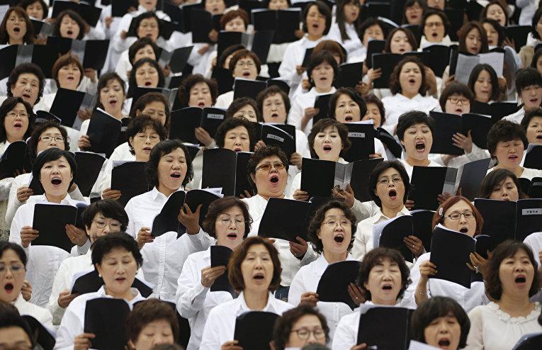 Пасхальная служба в Сеуле