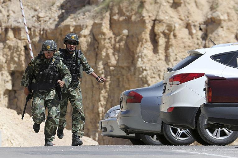 Китайские снайперы на 6-х ежегодных соревнованиях военных подразделений под эгидой короля Иордании Абдаллы II