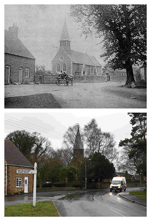 Дважды благословенная деревня Фликсборо в начале 20-го века и в настоящее время