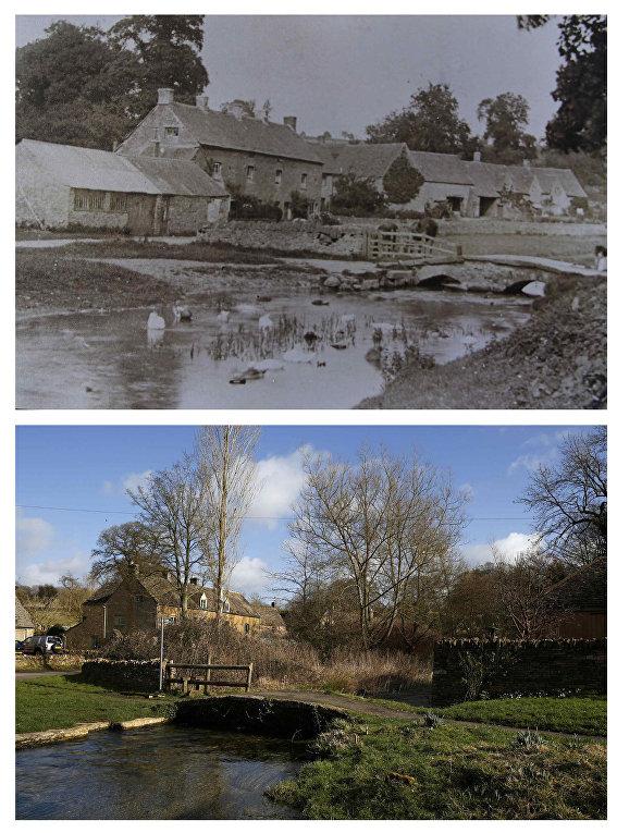 Дважды благословенная деревня Аппер-Слотер в начале 20-го века и в настоящее время