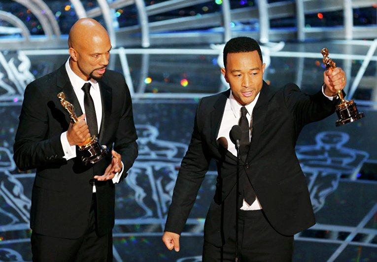 """Исполнители песни """"Glory"""" из фильма """"Сельма"""" Джон Лэдженд и рэпер Коммон получили """"Оскар"""""""