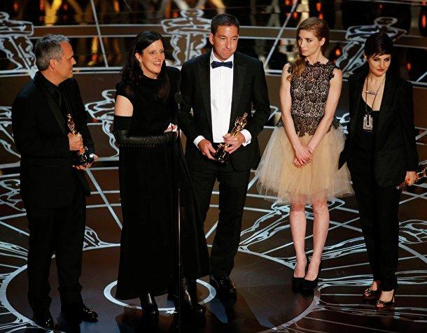 """Создатели документального фильма о Сноудене """"Гражданин четыре"""" на вручении премии """"Оскар"""""""