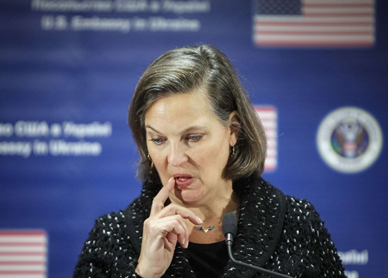 Виктория Нуланд на пресс-конференции в Киеве