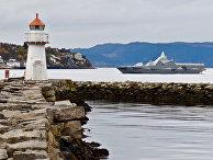 Шведский корвет «Карлстад» прибыл вТрондхейм, Норвегия, для участия вучениях НАТО «Единый трезубец»