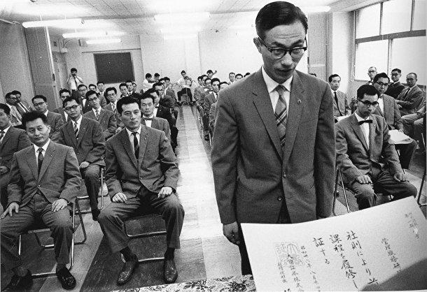 Экзамен на брокерской фирме фондовой биржи в Икэбукуро, Токио (Сигеити Нагано, 1961)