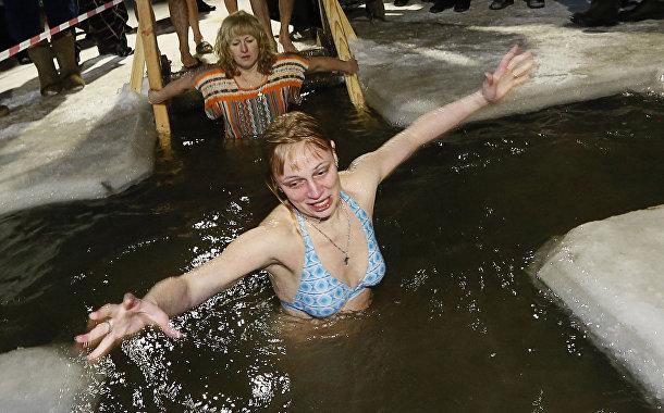 Празднование Крещения в городе Назарово Красноярской области