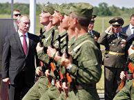 Посещение В.Путиным 393-й авиационной базы ВВС России