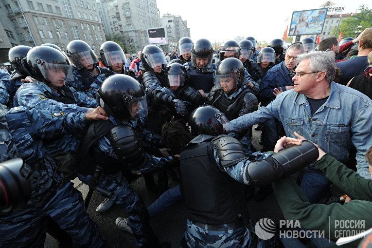 """""""Марш миллионов"""" в Москве"""