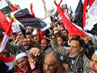 Демонстрация сторонников военного правительства Египта