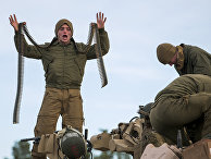 Американские солдаты во время учений НАТО «Единый трезубец 2018»
