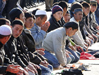 Празднование окончания священного месяца Рамадан в Москве