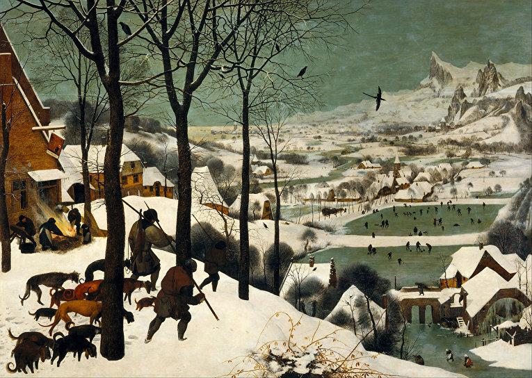 Питер Брейгель Старший «Охотники на снегу» (1565)