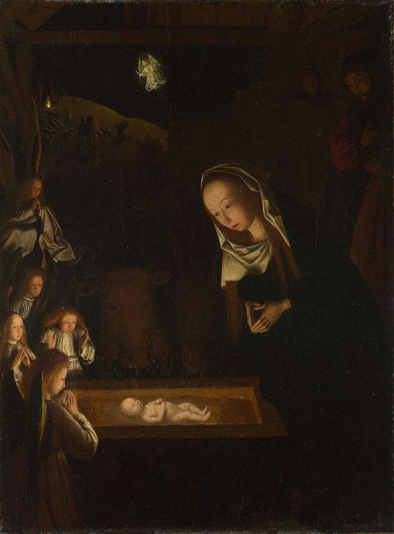 Гертген тот Синт Янс «Поклонение младенцу» (около 1490)