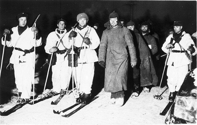Советские солдаты, попавшие в плен в битве при Суомуссалми