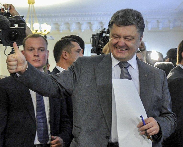 Петр Порошенко на выборах президента Украины